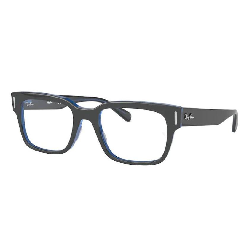 Óculos de Grau Ray Ban RX5388 Cinza com Azul Quadrado Tamanho 53