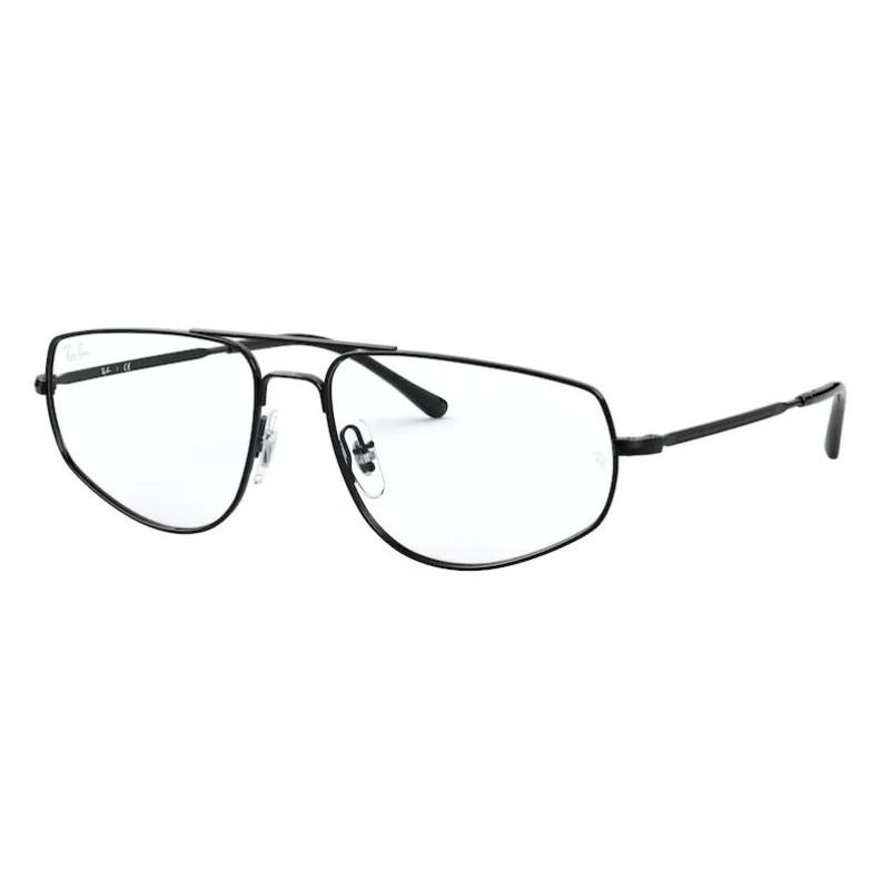 Óculos de Grau Ray Ban RX6455 Metal Preto Brilho Tamanho 57