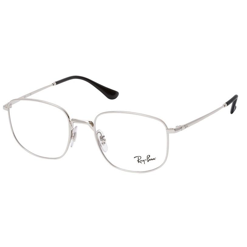 Óculos de Grau Ray Ban RX6457 Pequeno Prata Brilho Quadrado