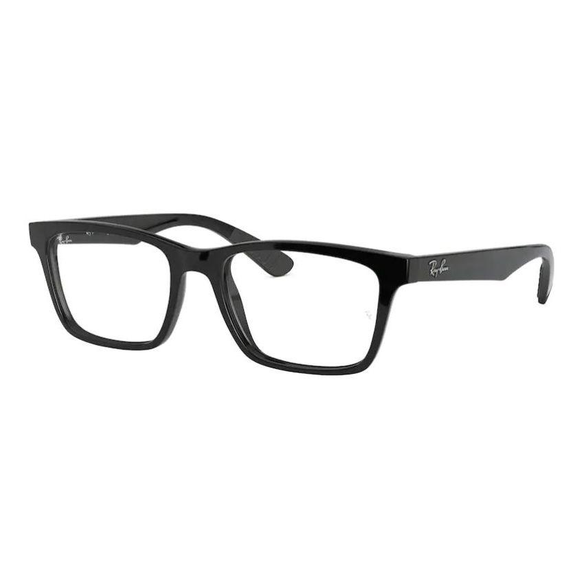 Óculos de Grau Ray Ban RX7025 Preto Brilho Acetato Grande