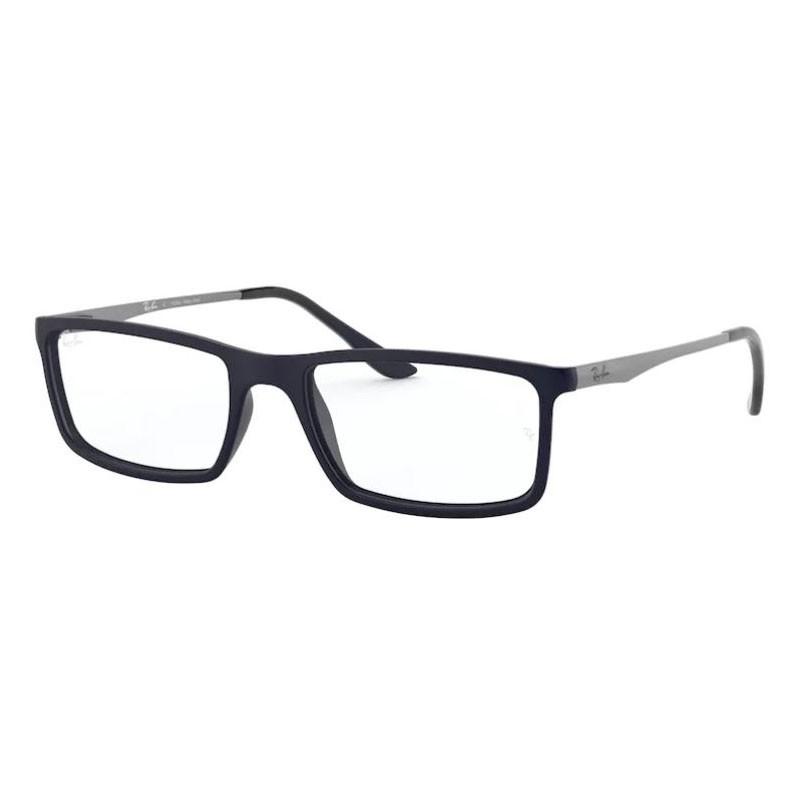 Óculos de Grau Ray Ban RX7026L Retangular Azul Marinho
