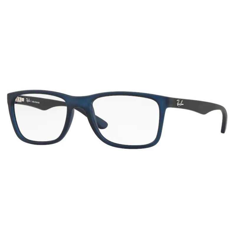 Óculos de Grau Ray Ban RX7027L Azul Fosco Emborrachado