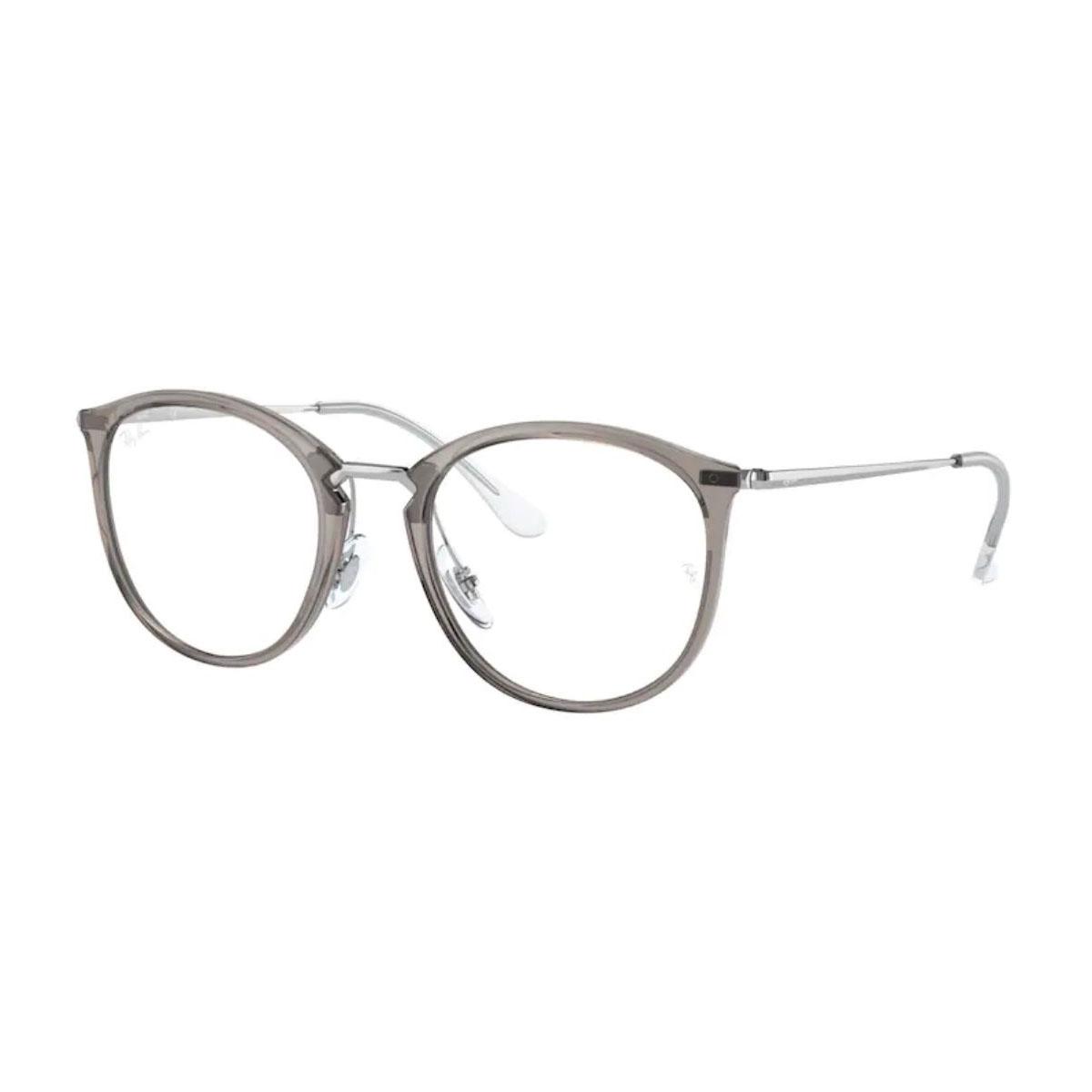 Óculos de Grau Ray Ban RX7140 Cinza Translúcido Redondo