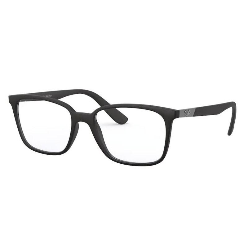 Óculos de Grau Ray Ban RX7167L Quadrado Preto Fosco Masculino