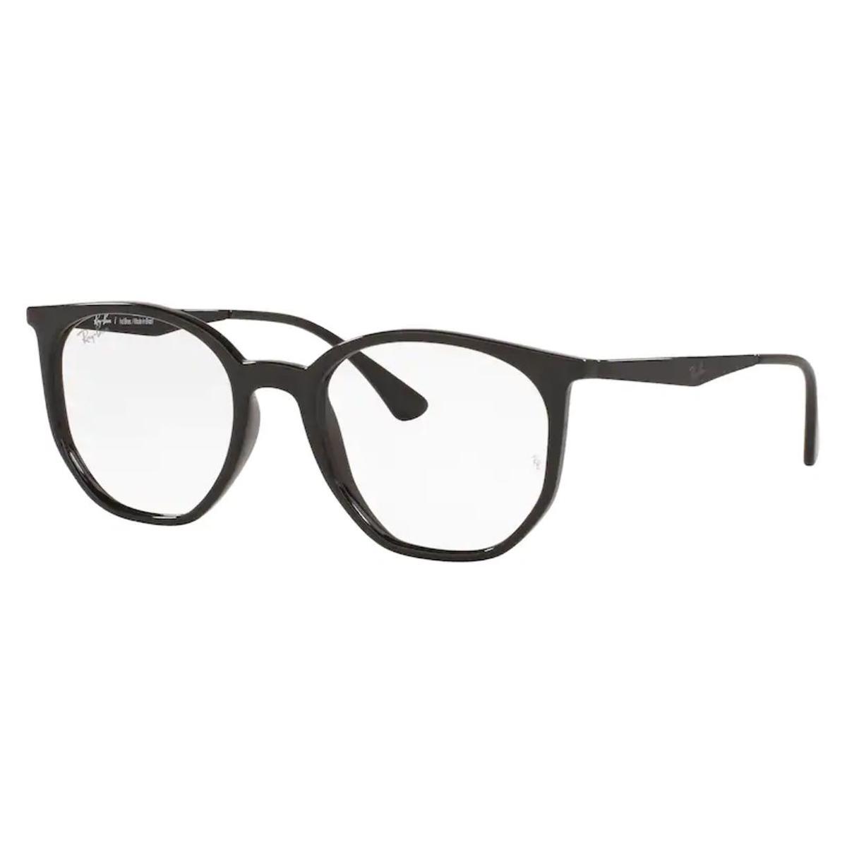 Óculos de Grau Ray Ban RX7174L Preto Brilho Tamanho 52