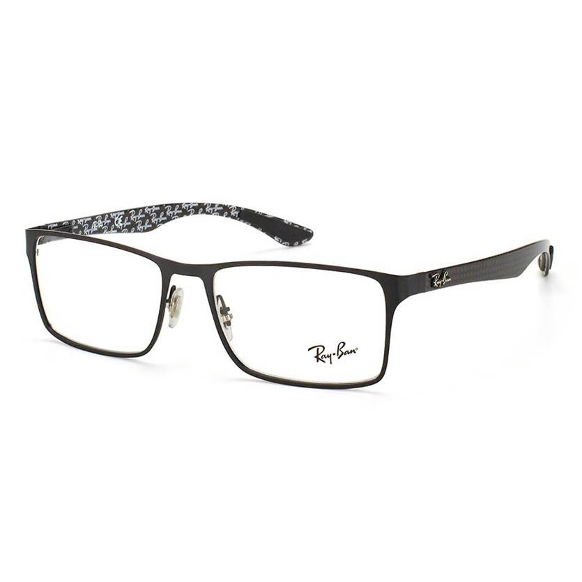 Óculos de Grau Ray Ban RX8415 Preto Fosco Metal Masculino