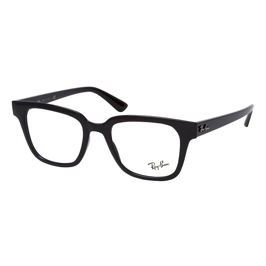 Óculos de Grau Ray Ban Square RX4323VL Preto Brilho Quadrado