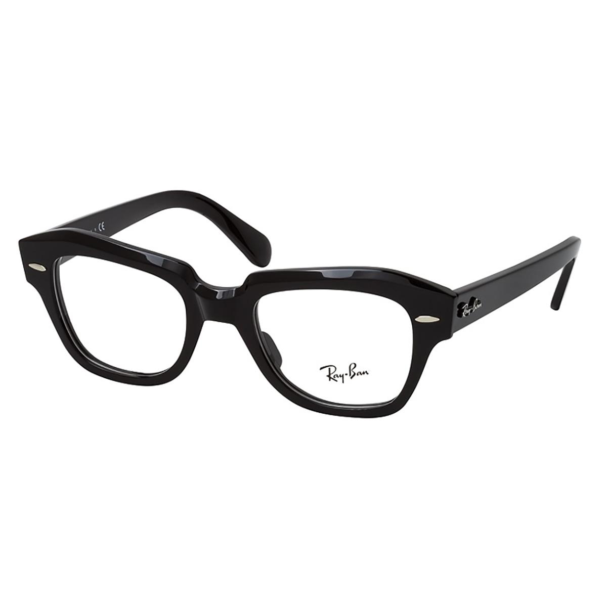 Óculos de Grau Ray Ban State Street RX5486 Preto Brilho
