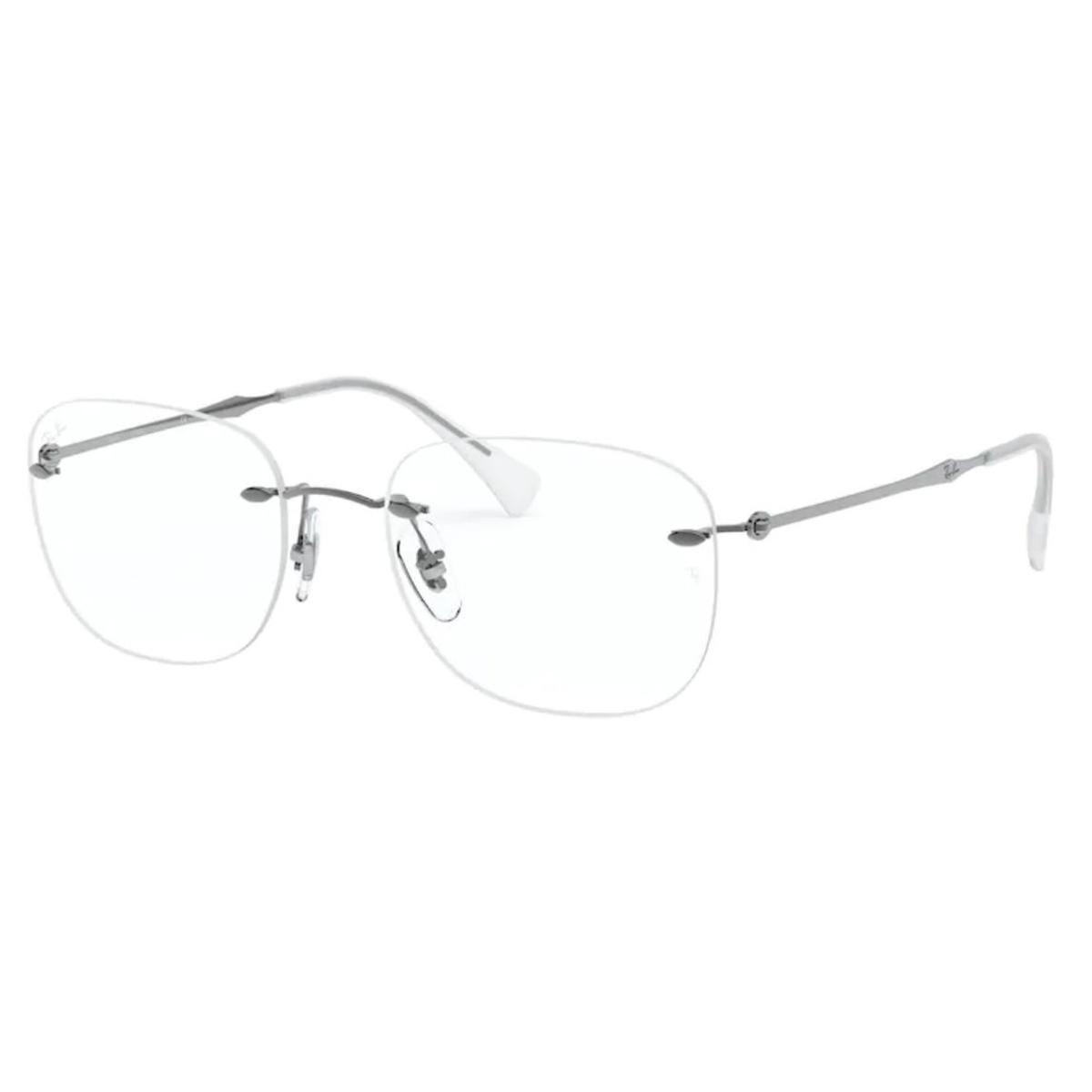 Óculos de Grau Ray Ban Titânio RX8748 Prata Parafusado