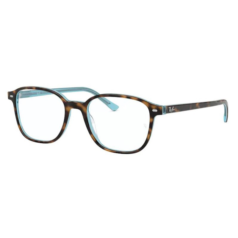 Óculos de Grau RayBan Leonard RX5393 Marrom Havana com Azul