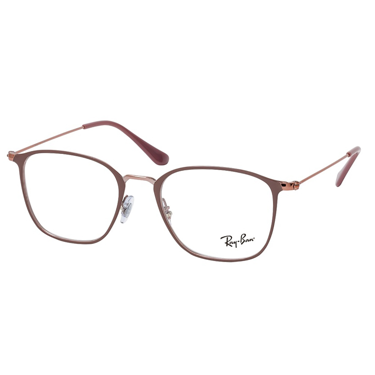 Óculos de Grau RayBan Quadrado RX6466 Bege Tamanho 51