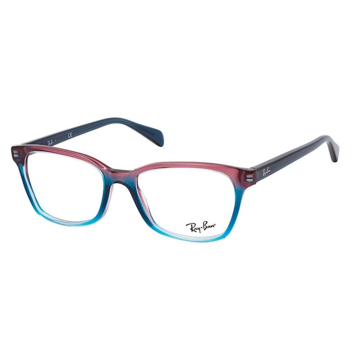 Óculos de Grau RayBan RX5362 Azul e Vermelho Degrade