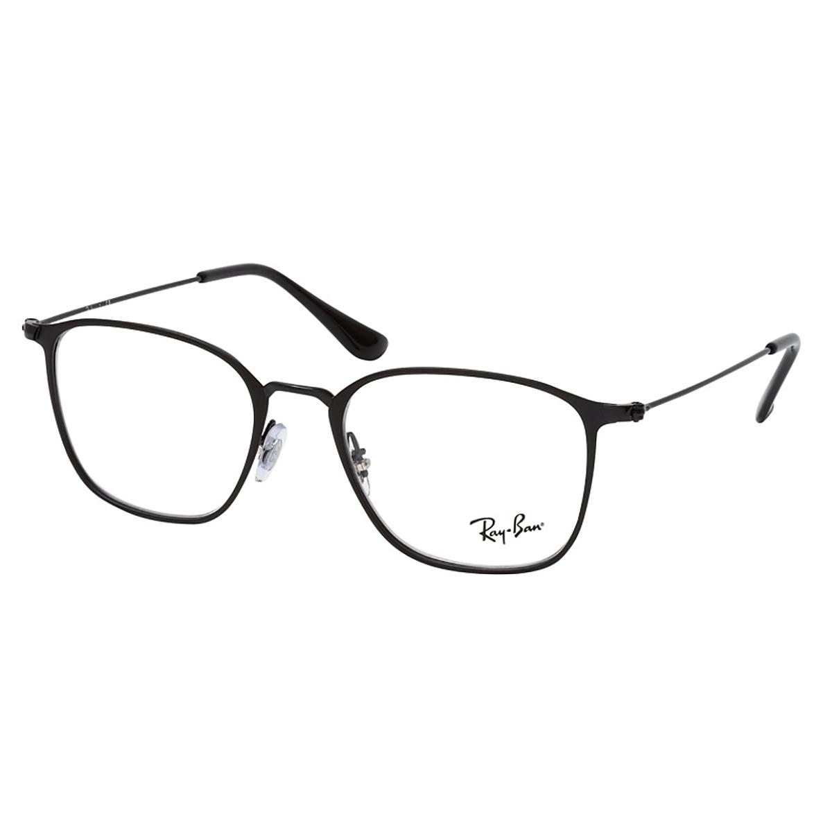 Óculos de Grau RayBan RX6466 Metal Preto Fosco Quadrado