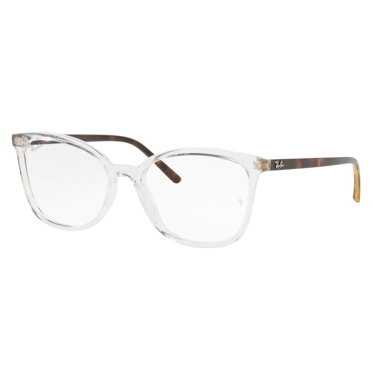 Óculos de Grau RayBan RX7189L Transparente com Marrom Havana