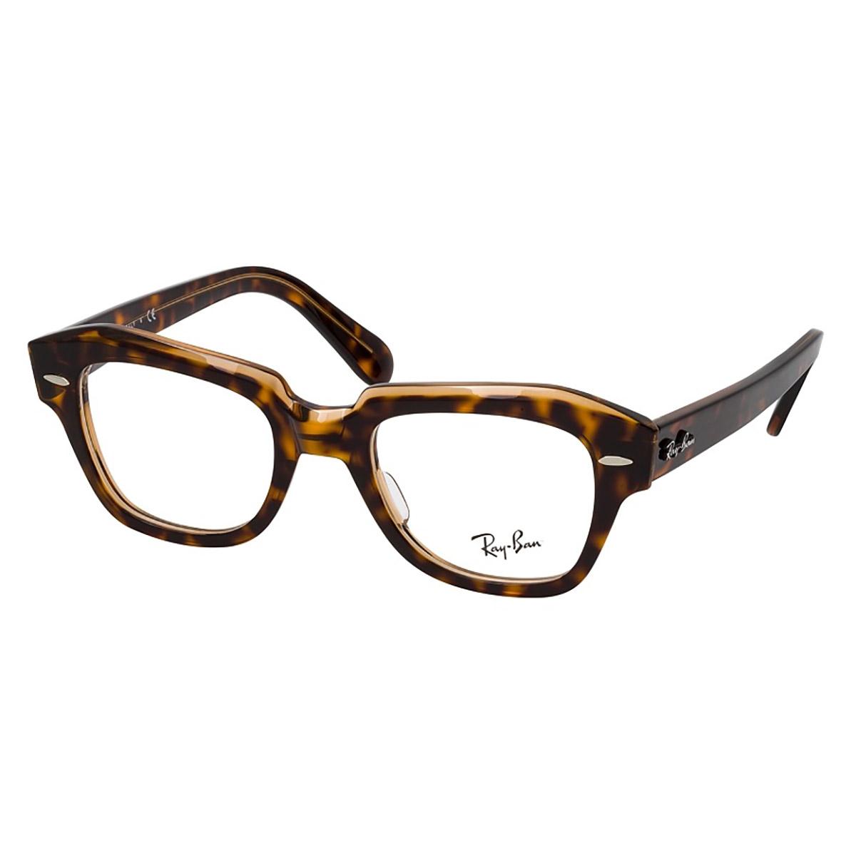 Óculos de Grau RayBan State Street RX5486 Marrom Havana Tamanho 48