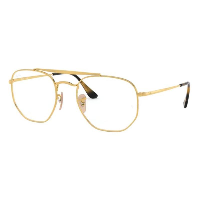 Óculos de Grau RayBan The Marshal RX3648V Dourado Brilho