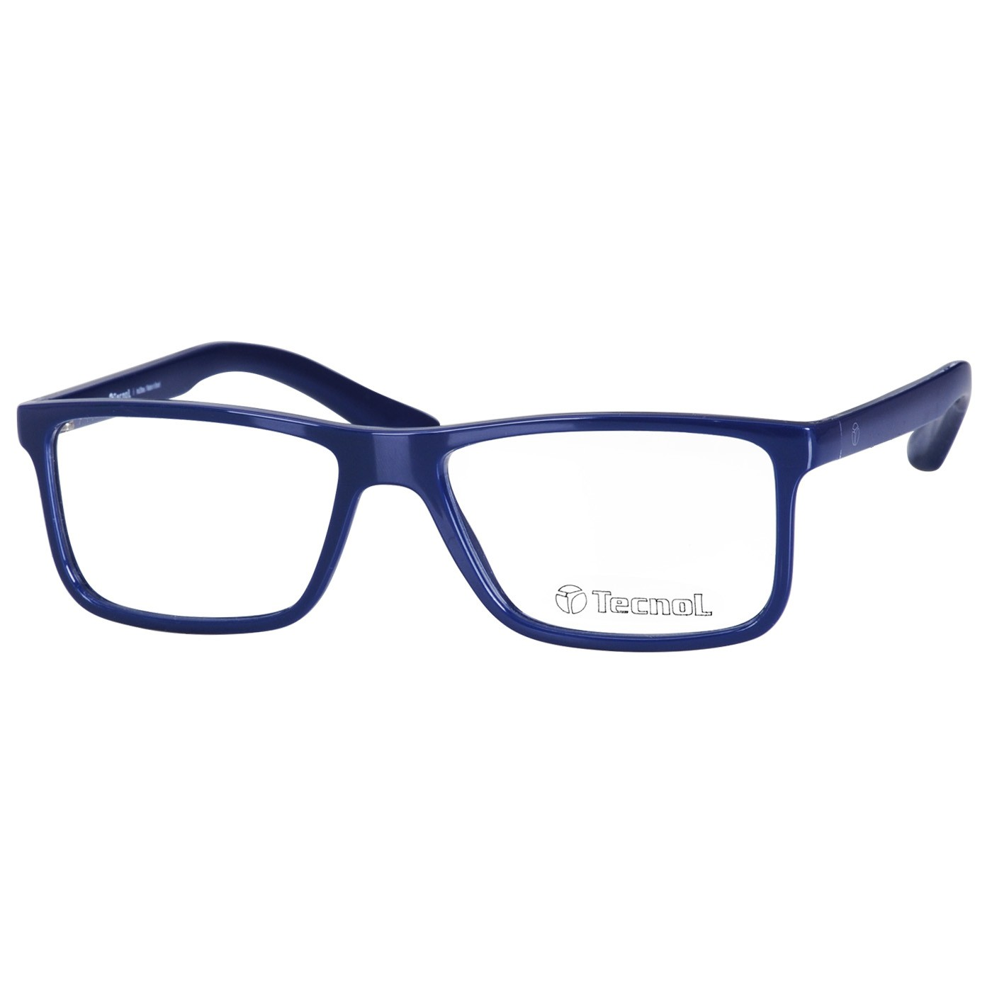 Óculos de Grau Tecnol TN3047 Masculino Azul Brilho Tamanho 54
