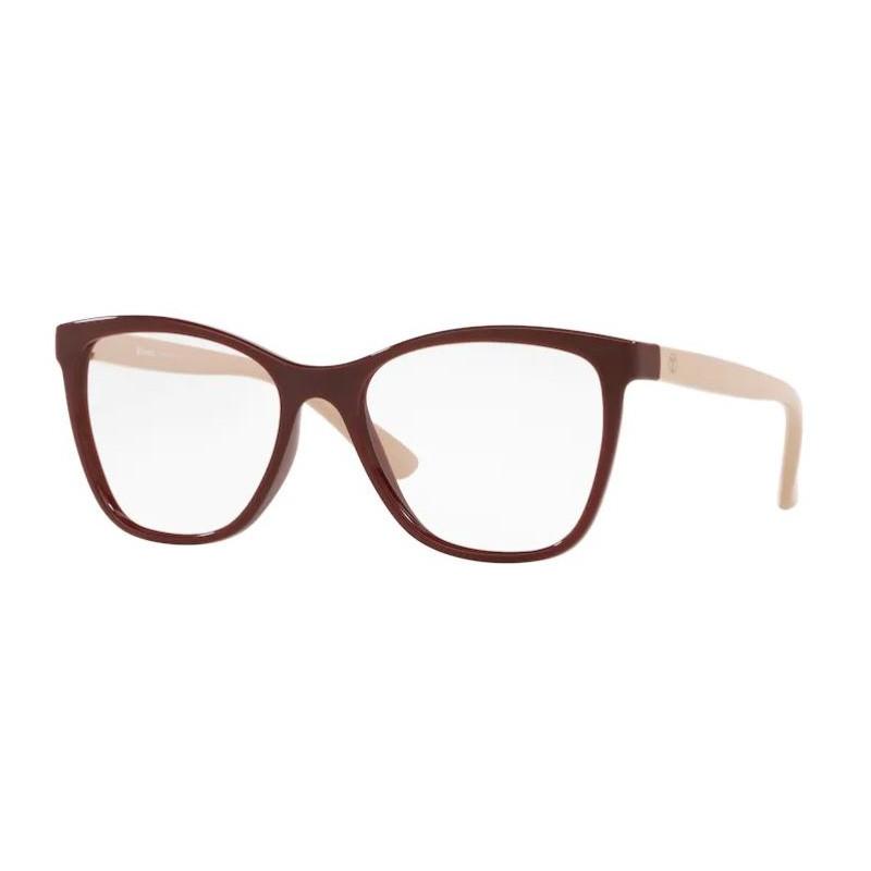 Óculos de Grau Tecnol TN3070 Bordô Brilho com Nude