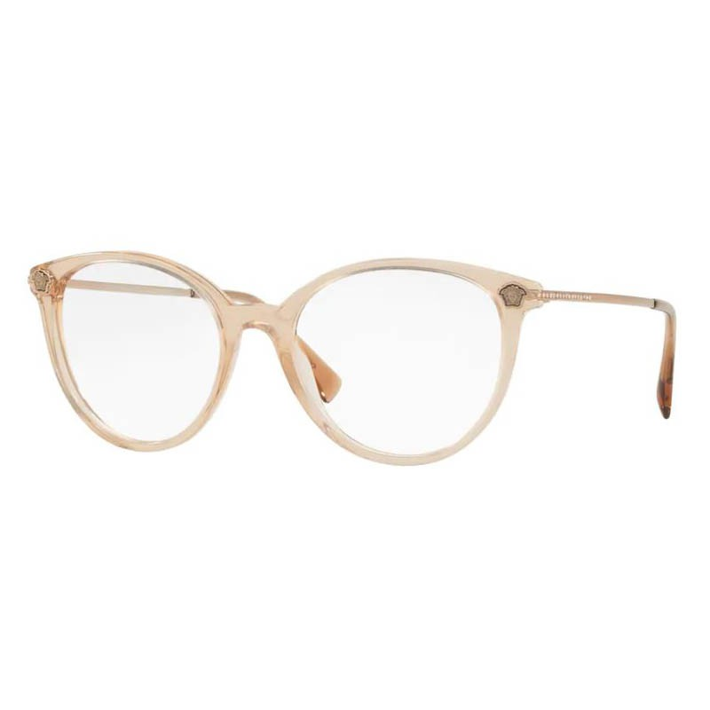 Óculos de Grau Versace VE3251B Redondo Marrom Transparente
