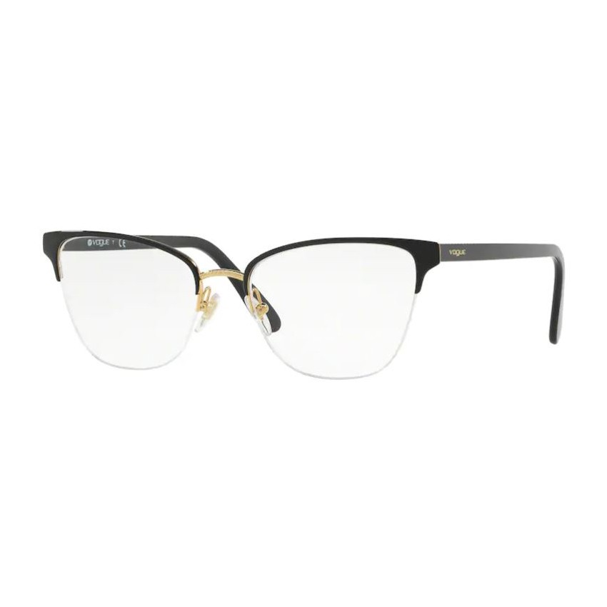 Óculos de Grau Vogue Feminino VO4120 Preto Brilho e Dourado