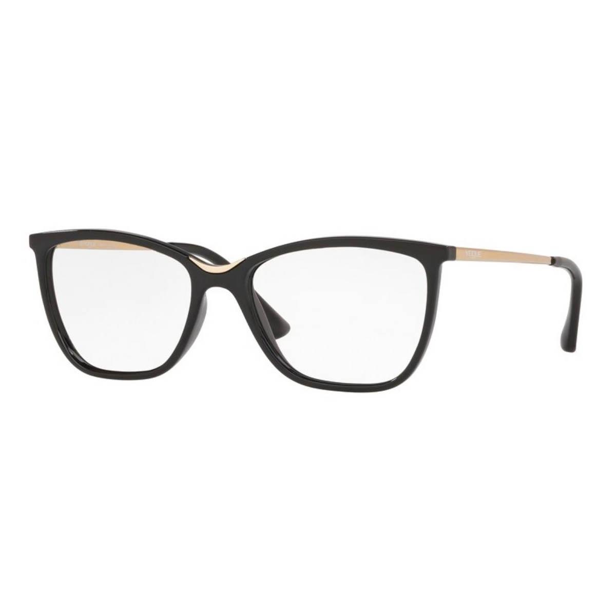 Óculos de Grau Vogue Feminino VO5264L Preto Brilho e Dourado