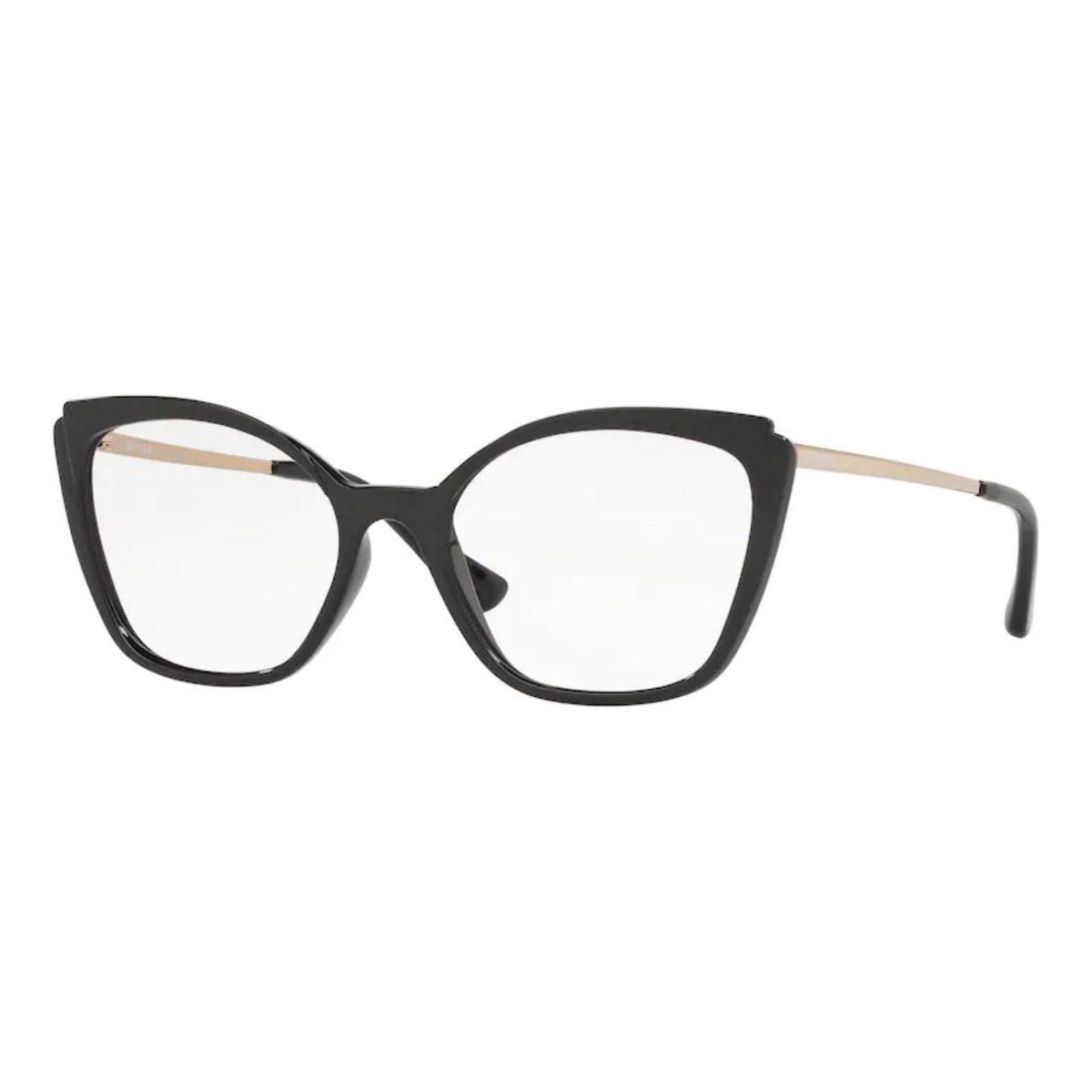 Óculos de Grau Vogue Gatinho VO5265L Preto Brilho e Fosco