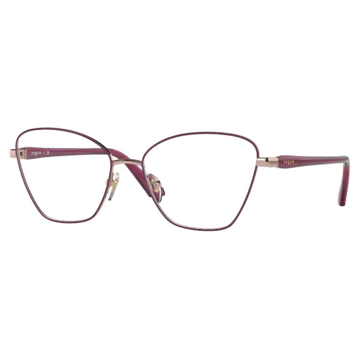 Óculos de Grau Vogue Metal VO4195 Roxo Brilho Tamanho 54