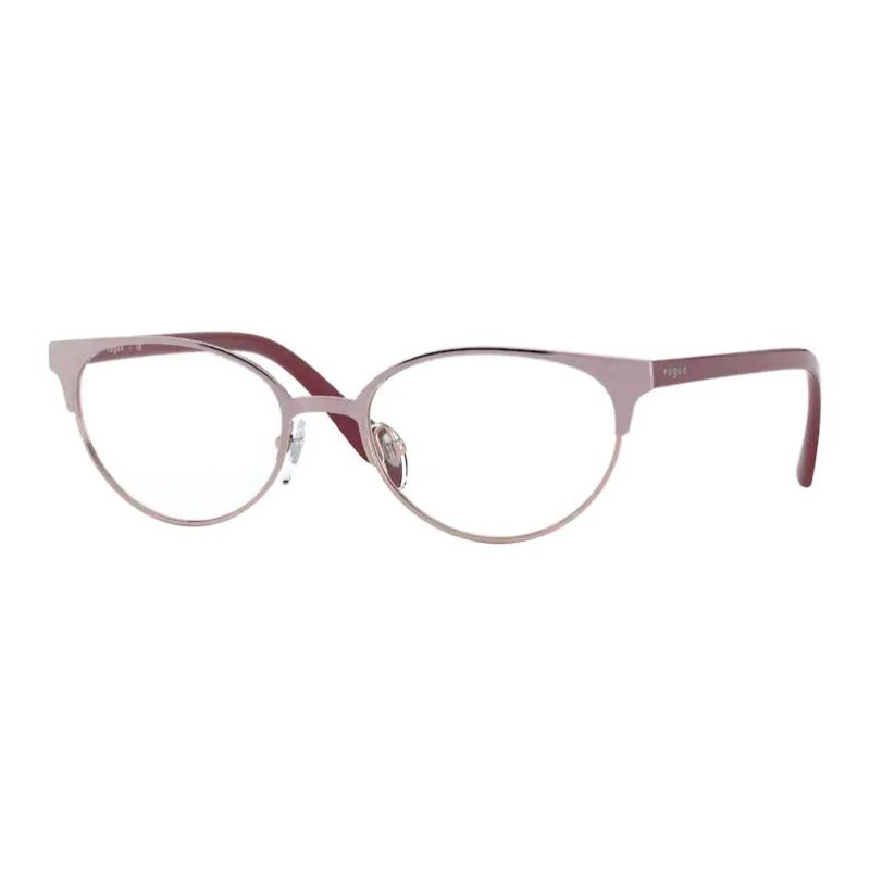 Óculos de Grau Vogue Pequeno VO4160 Metal Rosa Oval