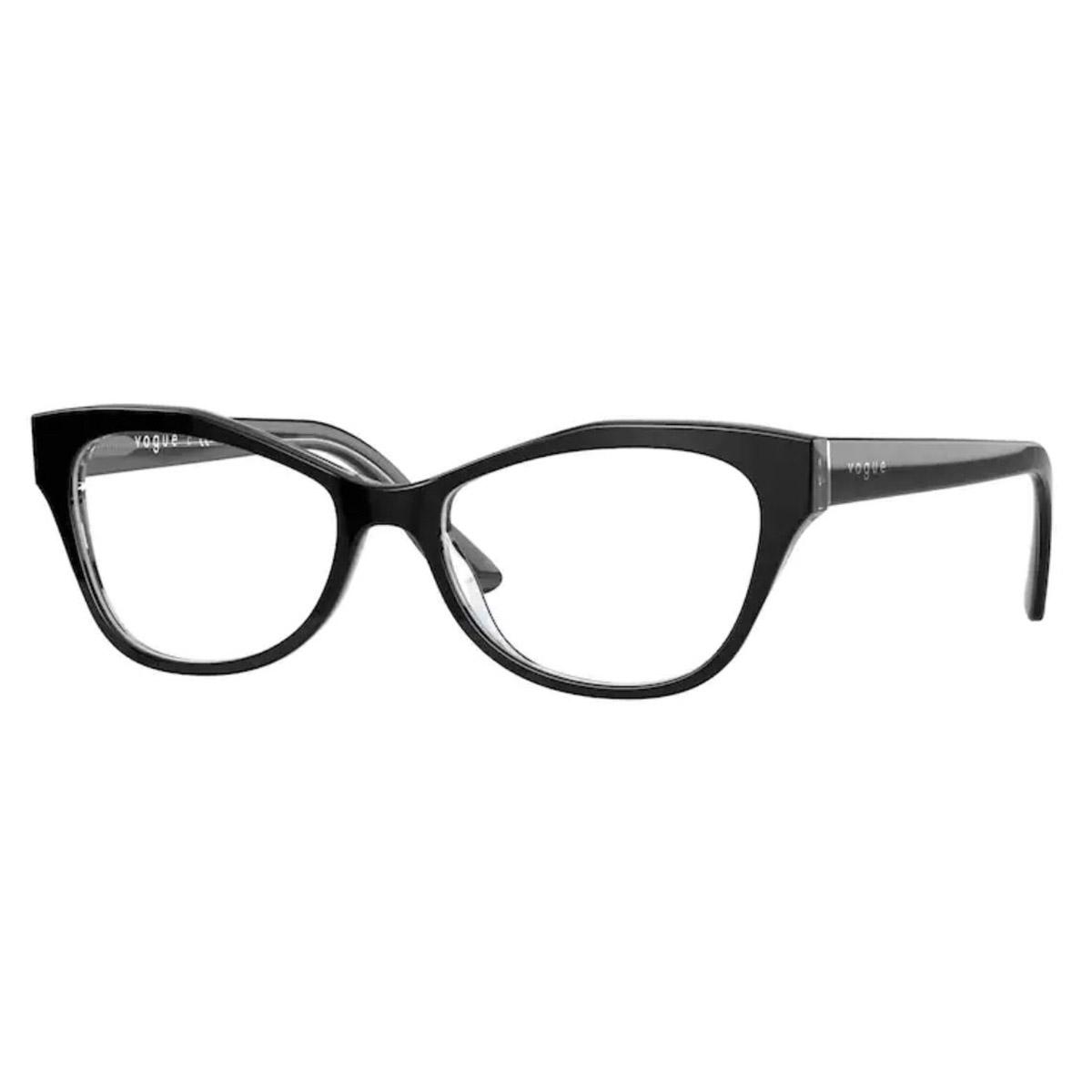Óculos de Grau Vogue Pequeno VO5359 Preto Brilho Tamanho 51