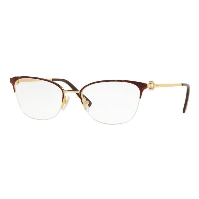 Óculos de Grau Vogue VO4095B Marrom Havana Brilho e Dourado
