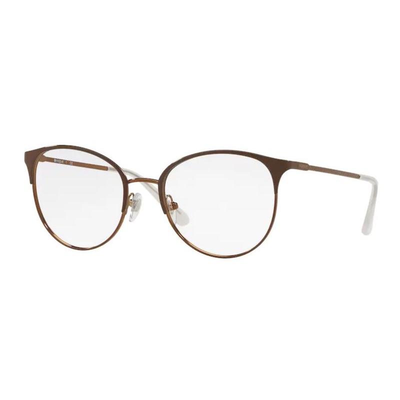 Óculos de Grau Vogue VO4108 Marrom Brilho Tamanho 51