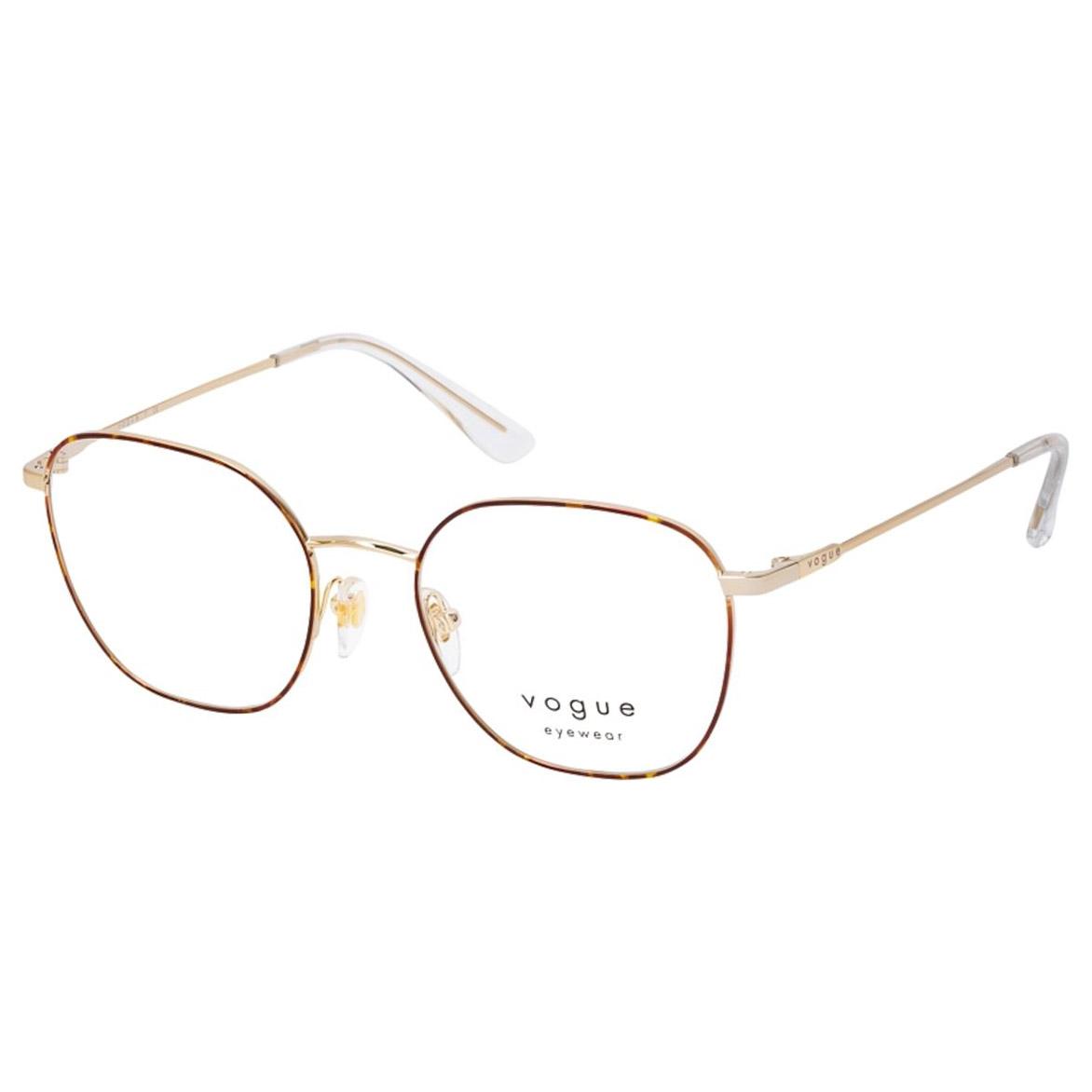 Óculos de Grau Vogue VO4178 Marrom Havana e Dourado