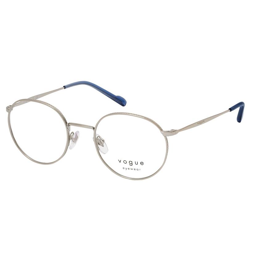 Óculos de Grau Vogue VO4183 Prata Brilho Redondo