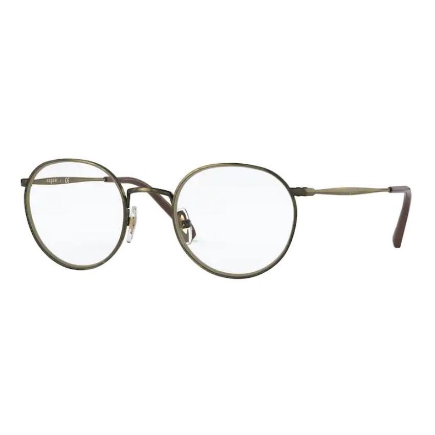 Óculos de Grau Vogue VO4183 Redondo Dourado Velho