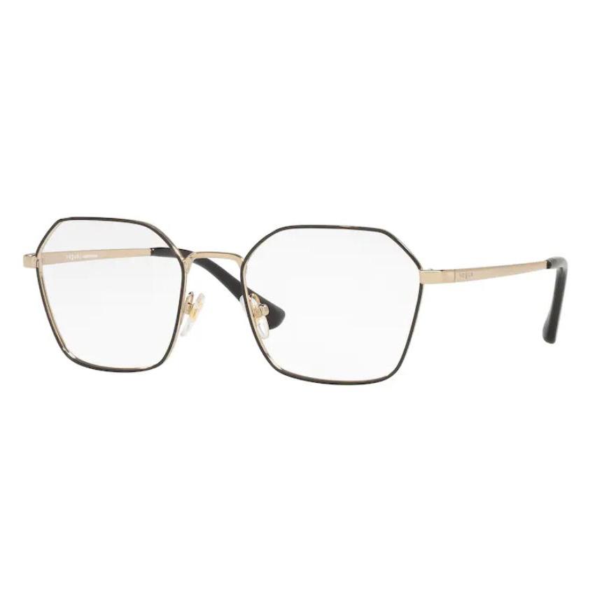 Óculos de Grau Vogue VO4187L Metal Preto Brilho com Dourado