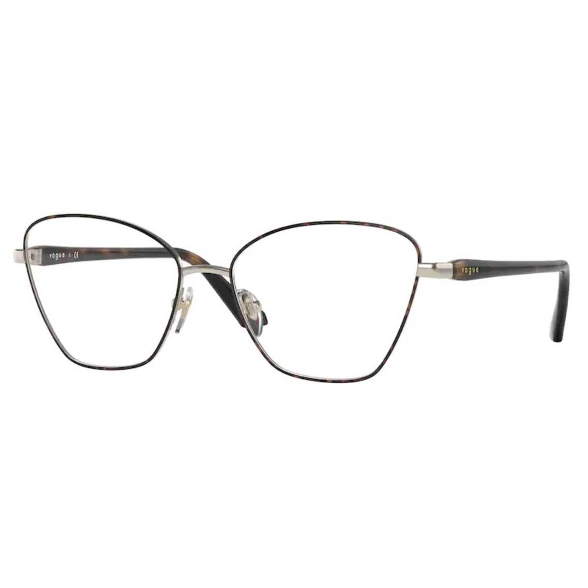 Óculos de Grau Vogue VO4195 Metal Marrom Havana Gatinho