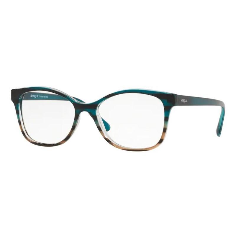 Óculos de Grau Vogue VO5233L Azul Turquesa com Marrom Brilho