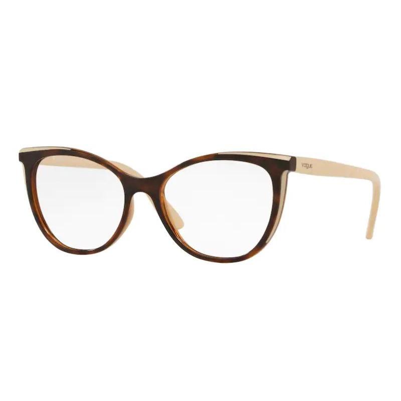 Óculos de Grau Vogue VO5251L Marrom Havana com Bege