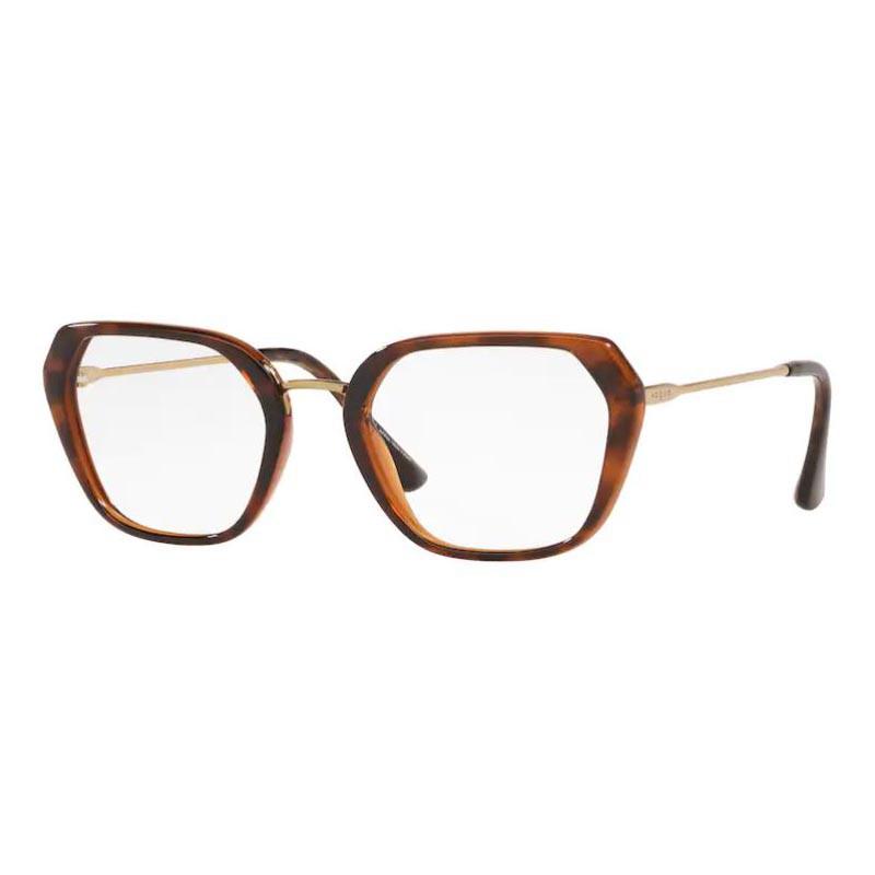 Óculos de Grau Vogue VO5301L Quadrado Marrom Havana Brilho