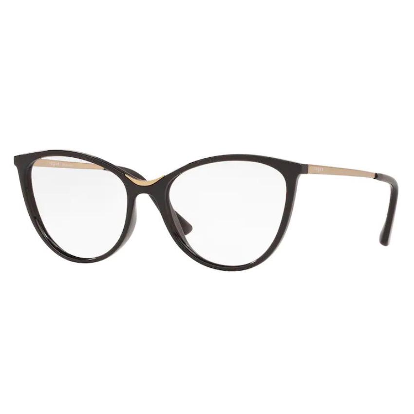 Óculos de Grau Vogue VO5320L Preto Brilho Tamanho 52