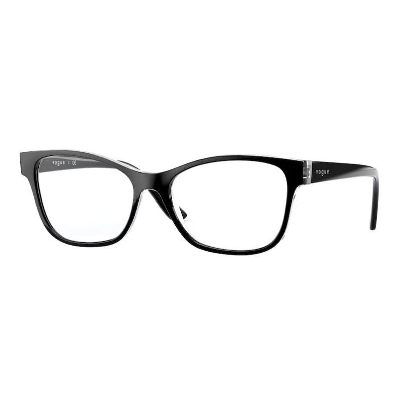 Óculos de Grau Vogue VO5335 Preto com Transparente Tamanho 54