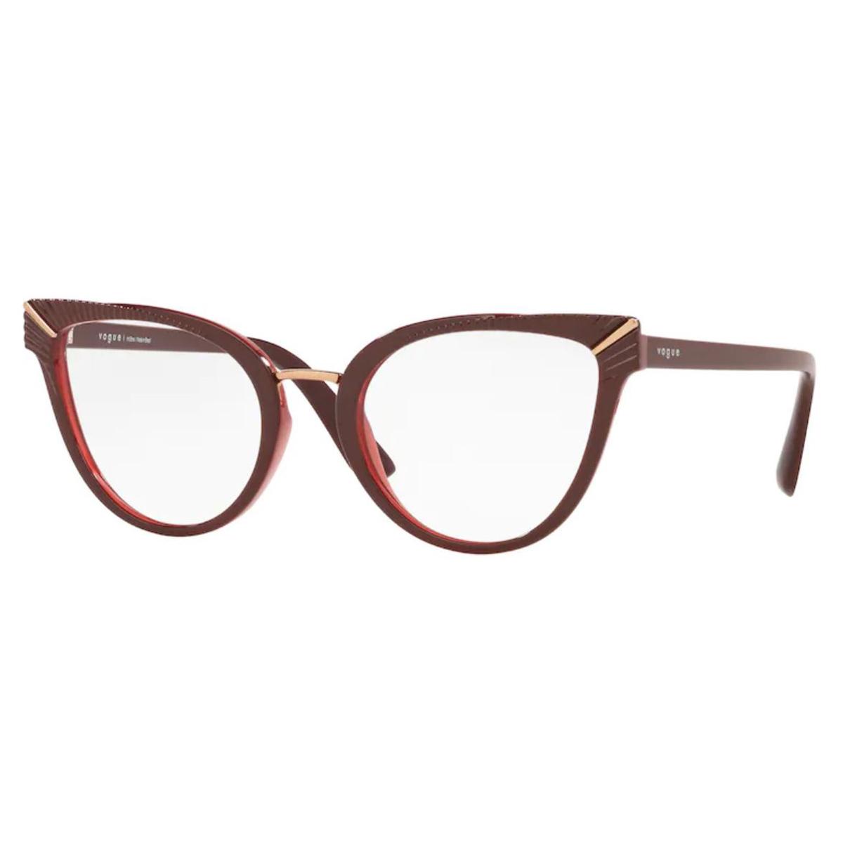 Óculos de Grau Vogue VO5364L Bordô Brilho Tamanho 52