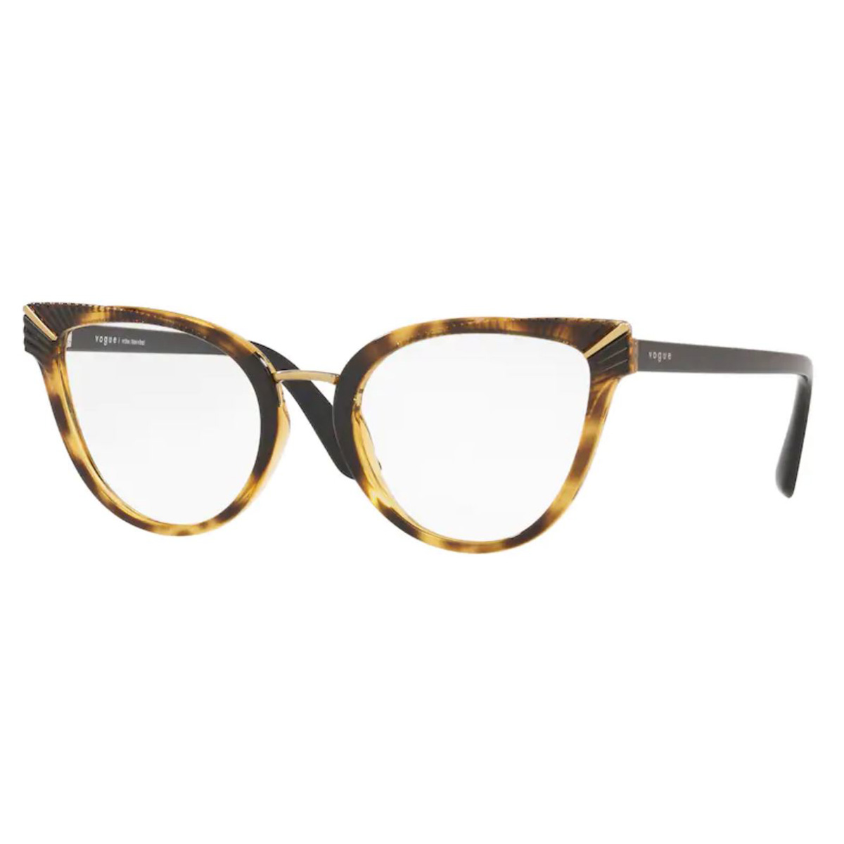Óculos de Grau Vogue VO5364L Marrom Havana Gatinho