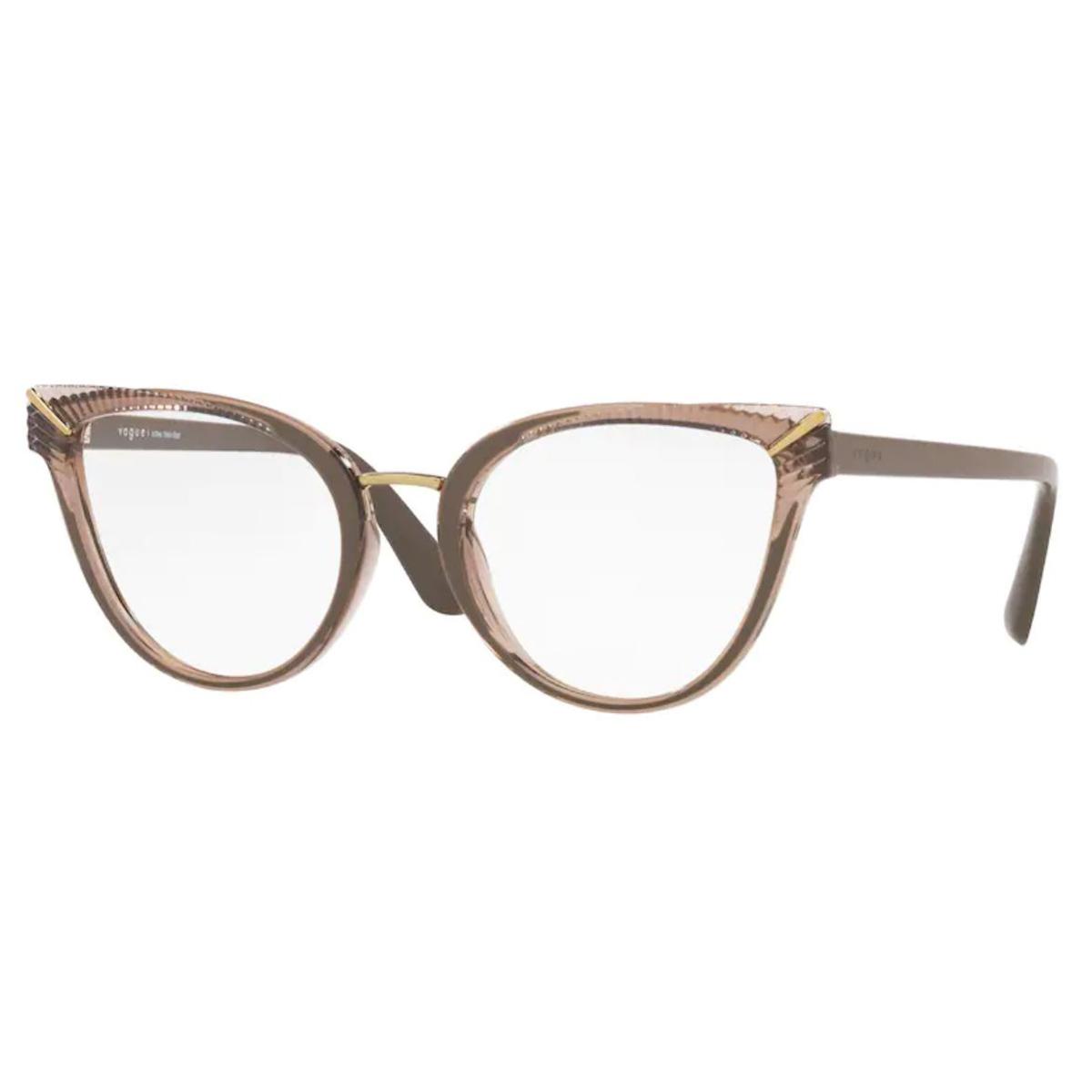 Óculos de Grau Vogue VO5364L Marrom Translúcido Tamanho 52
