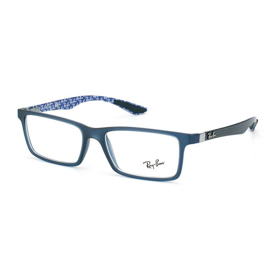 Óculos de Grau Masculino  Ray Ban RX8901 Azul Fosco e Carbono
