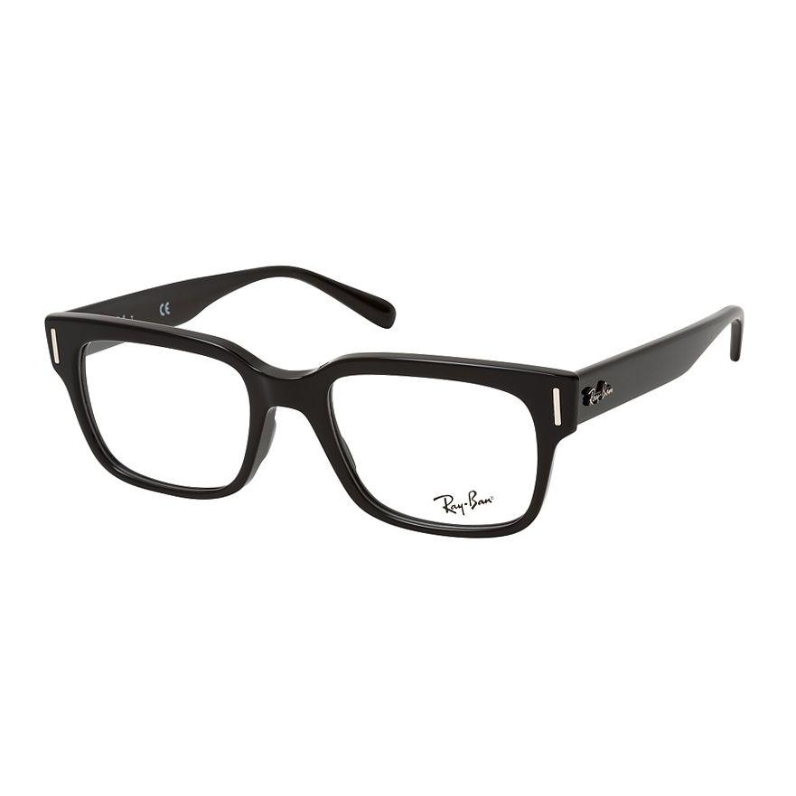 Óculos de Óculos Ray Ban Quadrado RX5388 Acetato Preto Brilho
