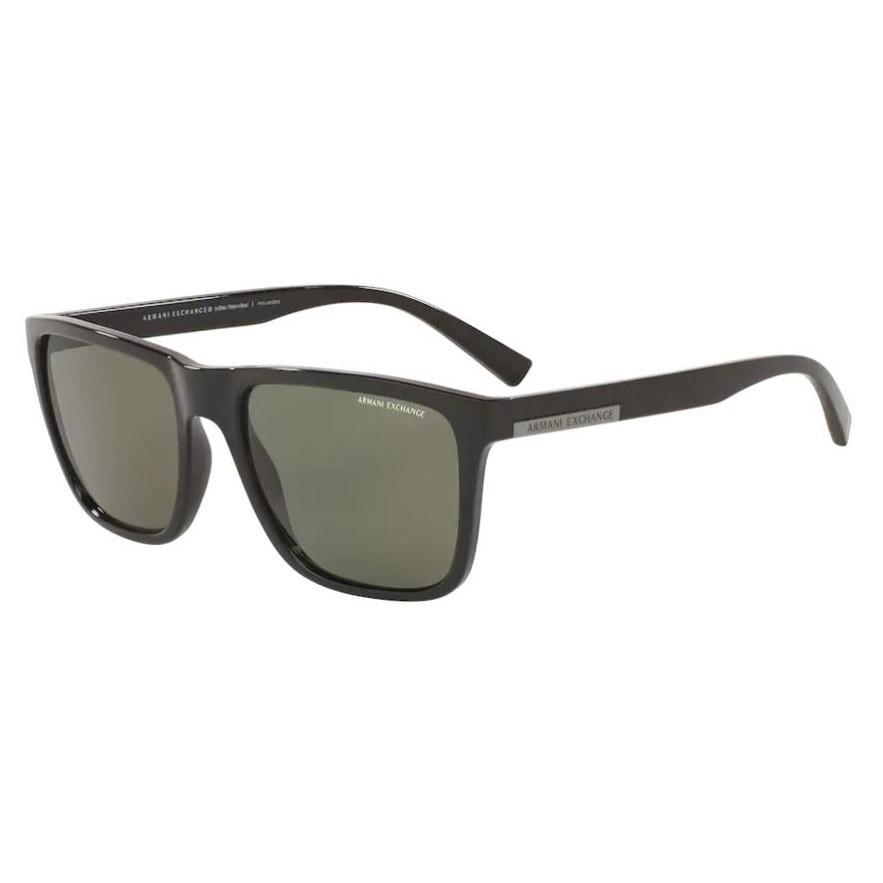 Óculos de Sol Armani Exchange AX4080SL Preto Brilho Polarizado