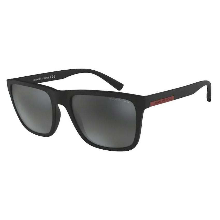 Óculos de Sol Armani Exchange AX4080SL Preto Fosco Espelhado