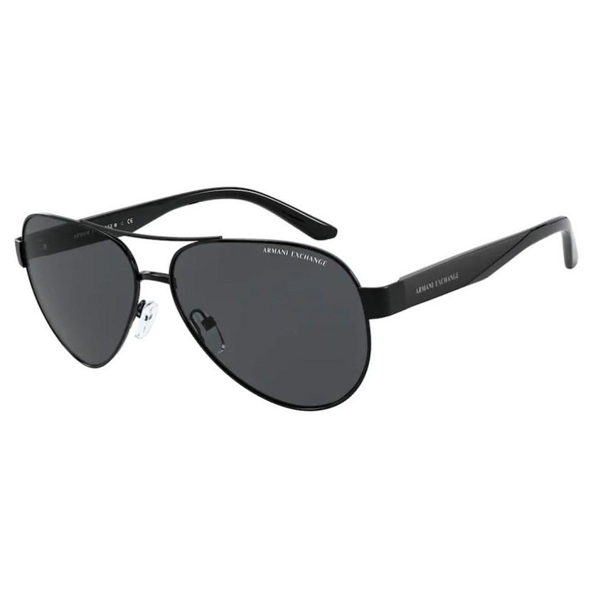 Óculos de Sol Armani Exchange Piloto AX2034S Metal Preto Brilho