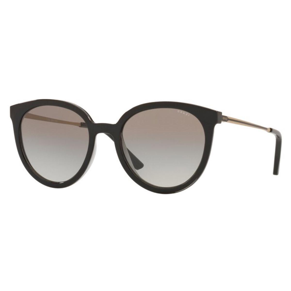 Óculos de Sol Feminino Grazi GZ4042 Preto Brilho Redondo